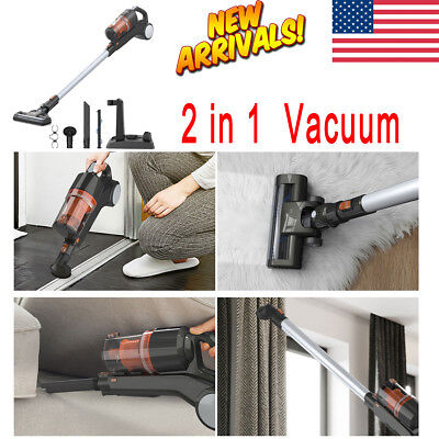 Cordless 22.2V Rechargeable 2 In 1 Handheld Vacuum Cleaner HEPA Portable Tool US
