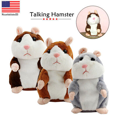 Cute Talking Nod Hamster Mouse Record Chat Mimicry Pet Plush Toy 2019 Xmas Gifts