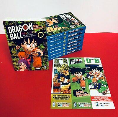 manga DRAGON BALL  FULL COLOR da 1 a 8 completa con 3 segnalibri - Star Comics