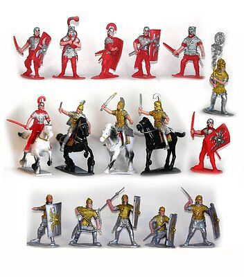 ROMAN TOY SOLDIERS 20 Infantry Painted Plastic Figures NEW STOCK FREE SHIP