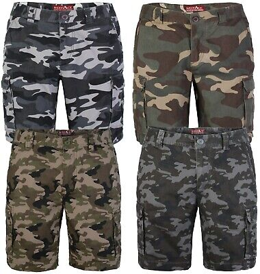 westAce Mens Army Cargo Combat Shorts Casual Work Cotton Chino Camo Half Pant