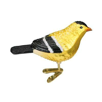 Old World Christmas American Goldfinch Glass Ornament 18045 Decoration FREE BOX