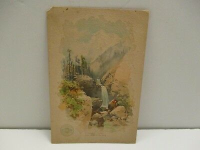 Clark's O N T Spool Cotton Advertising Card Pikes Peak c early 1900's