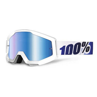 100% - Strata Ice Age Blue Mirror Lens Adult Goggles