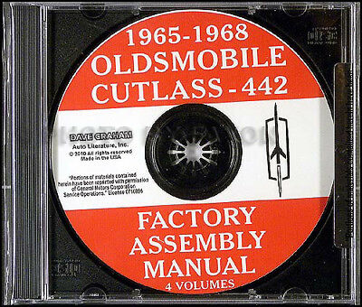 1968 oldsmobile factory assembly manual cd 442 supreme cutlass f85