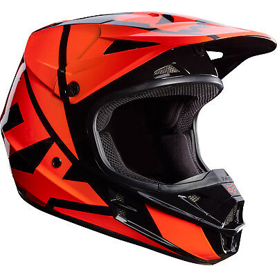 Fox - V1 Race Orange Unisex Adult Helmet - 2X-Large