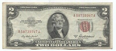 US Legal Tender $2 Dollars Note - 1953-A - Red Seal - A58739947A