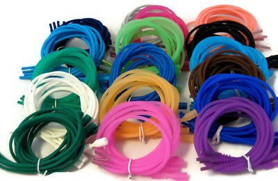 """4 Silicone Necklace Cords Funky Rubber Add a Pendant Stretch Cord Jewelry 18"""""""