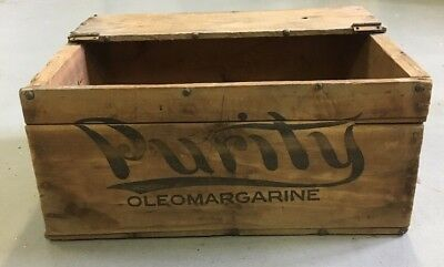 Capital City Dairy PURITY Oleomargarine Wood Crate Columbus OH Wooden Box