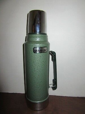 Classic Vacuum Thermos Bottle Coffee Green Stanley Hammertone 1 Qt Stainless