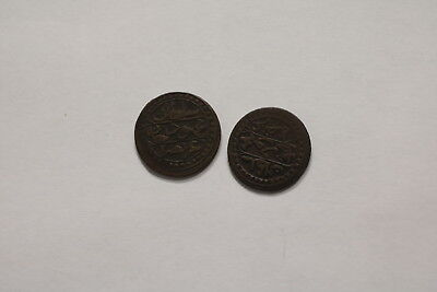 Turkey Ottoman 2 Old Copper Coins A98 Zk16