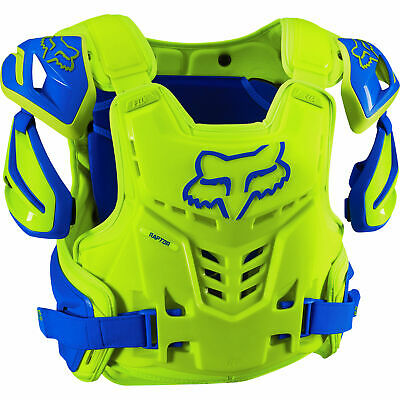 Fox - Raptor CE Blue/Yellow Men Chest Guard - Large/X-Large