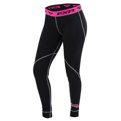 FXR - Vapour 20% Merino Black/Fuchsia Women Pants - Medium