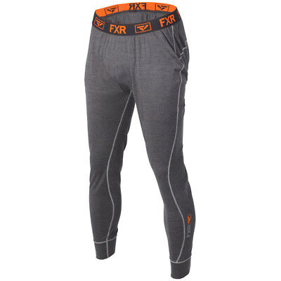 FXR - Vapour 50% Merino Charcoal/Orange Men Pants - Small