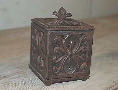 Vintage Cast Iron Metal Candlestick Candle Holder Square Home Decor Gift Idea