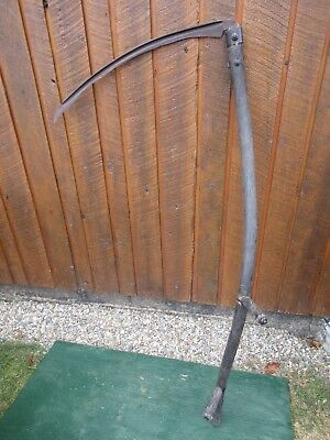 "Vintage Antique 56"" Long Scythe Hay Grain Sickle Farm Tool Blade is 26"" Long"