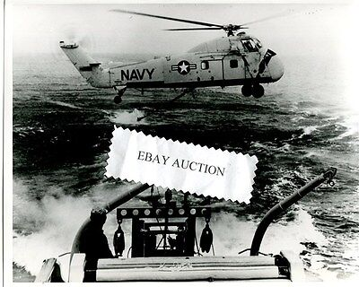 Sikorsky Hss-1 H-34 Official Us Navy Helicopter Squadron Photo 1962