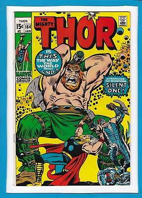 MIGHTY THOR #184_JANUARY 1971_VERY FINE_1st APP THE SILENT ONE_GALACTUS_MANGOG!