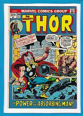 "Mighty Thor #206_Dec 1972_Very Fine+_""power Of The Absorbing Man""_Bronze Age!"