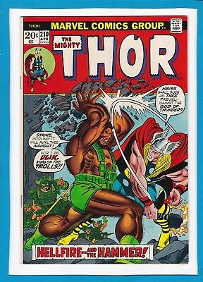 "Mighty Thor #210_April 1973_Very Fine+_""hellfire And The Hammer""_Bronze Age!"