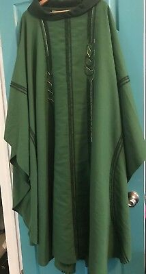 Beautiful Catholic Priests Green & Gold Chasuble Vestment By Maison Bouvrier
