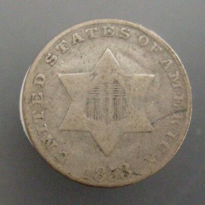 1853 US Three Cent Silver 3c