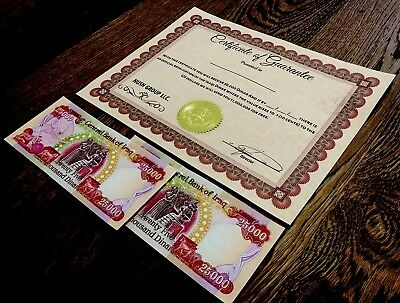 50,000 Iraqi Dinar w/126 day option (3/14/2019) reserve cert for 11,000,000 more