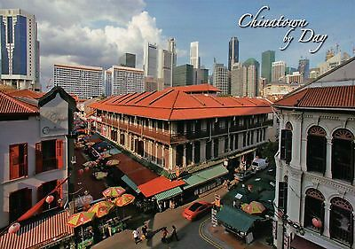 Chinatown by Day, Singapore, Skyscrapers and Business District etc Postcard