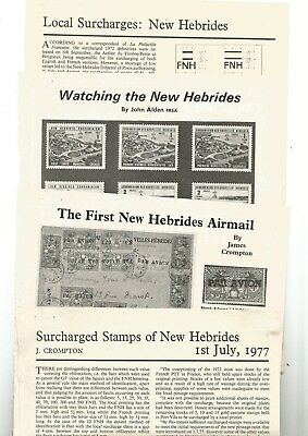 New Hebrides - Surcharged Stamps Of N.h.1977:local Surcharges: N.h. Fnh Overpri