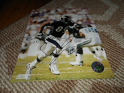 Travis Taylor Signed TO JASON Photo 8x10 Football Autograph Baltimore Ravens