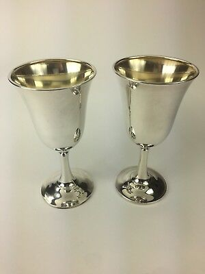 2 Wallace Sterling Silver Goblets