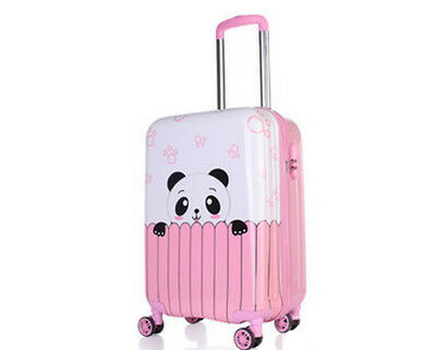 E856 Cartoon Panda Universal Wheel Children Travel Suitcase Luggage 20 Inches W