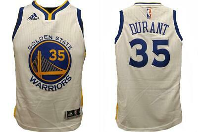 new concept 66409 cf8b2 NEW KEVIN DURANT #35 Warriors YOUTH S-M-L-XL Replica or Swingman Adidas  Jersey