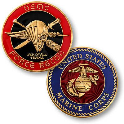 New Usmc United States Marines Corps Force Recon Challenge Coin             -01