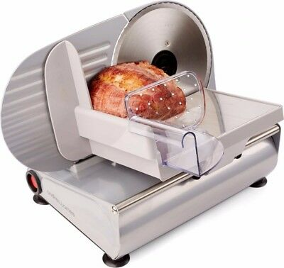 Andrew James Electric Food Slicer Meat & Bread Cutter - 3 Stainless Steel Blades