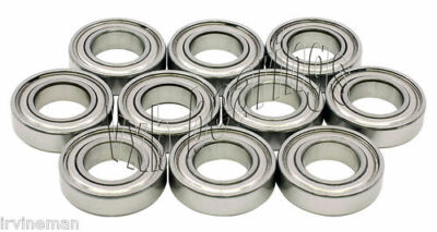 "Lot 10 R10 ZZ Ball Bearings 5/8""x 1 3/8"" inch R10Z .625"