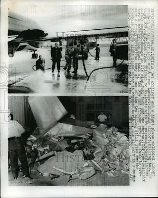 1968 Press Photo DC9 plane and light plane wreckage that collided during flight