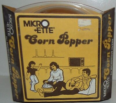 Vintage Micro Ette Corn Popper NEW Old Stock Microwave Popper No.498