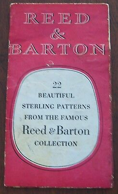 Reed & Barton 1960 Sterling Silver Advertising Brochure Pieces Available Prices