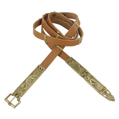 Medieval Renaissance Chaucer Tan Crusader Knights Leather Belt