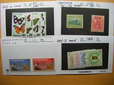 3985 Jamaica Lot of 4 Mint Stamp Packs