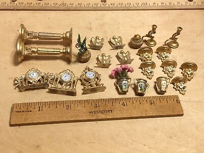Lot of Soft metal,gold painted. Mixed decorative items
