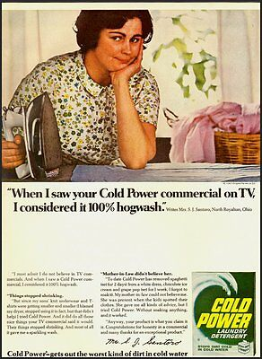 1967 Vintage Ad for COLD POWER Laundry detergent   (031612)