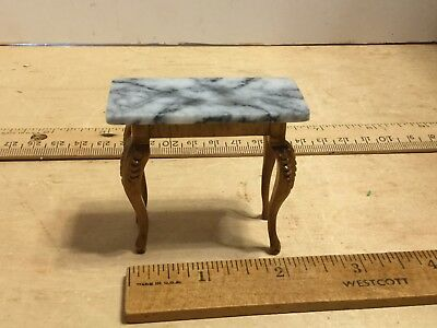 Reminiscence marble topped side table,extra nice marble,VGC