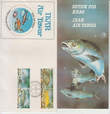 MALAYSIA 1982 Fish on First Day Cover With Insert
