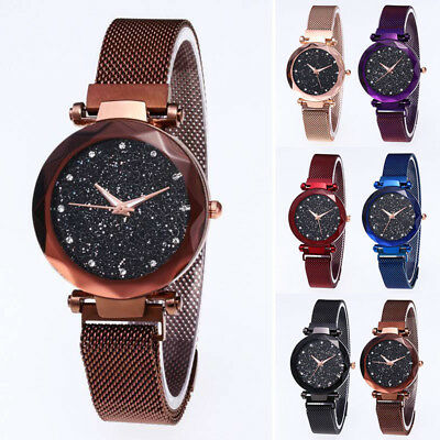 Starry Sky Watch Magnet Stainless Steel Strap Free Buckle Women Gift