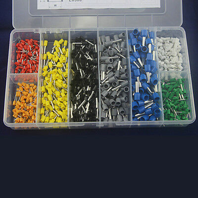 800x Wire Crimp Connector Insulated Cord Pin End Terminal AWG 22 To 10 Assorted