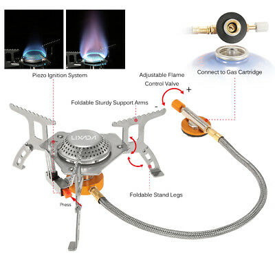 3000W Portable Outdoor Camping Hiking Gas Stove Folding Cooking Burner UK Stock