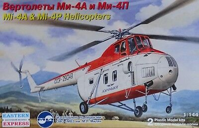 EASTERN EXPRESS 14511 Mi-4A & Mi-4P Helicopters (2x Kits) in 1:144