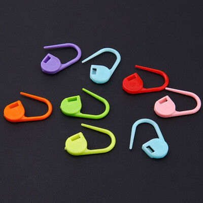 50PCS Colorful Plastic Safety Pins Locking Stitch Ring Marker for Knitting Craft